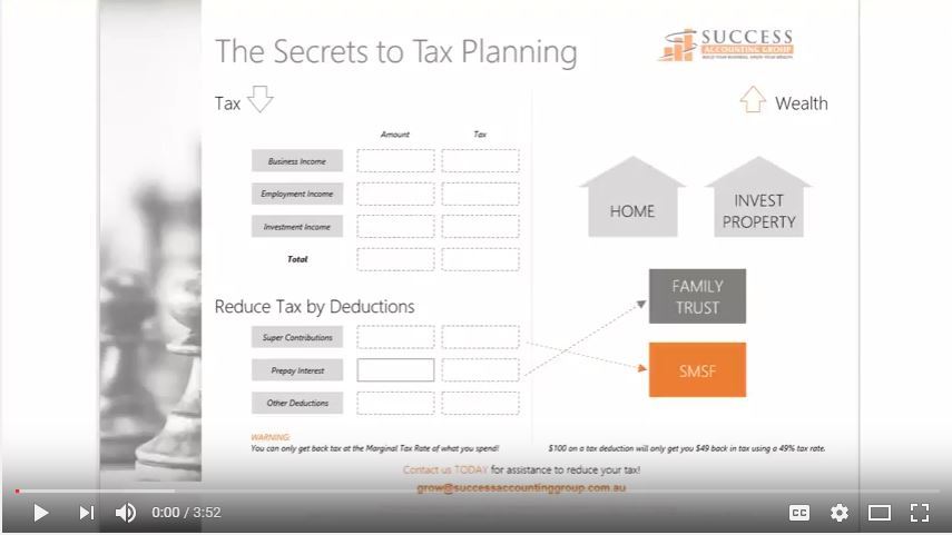 The secrets to Tax Planning