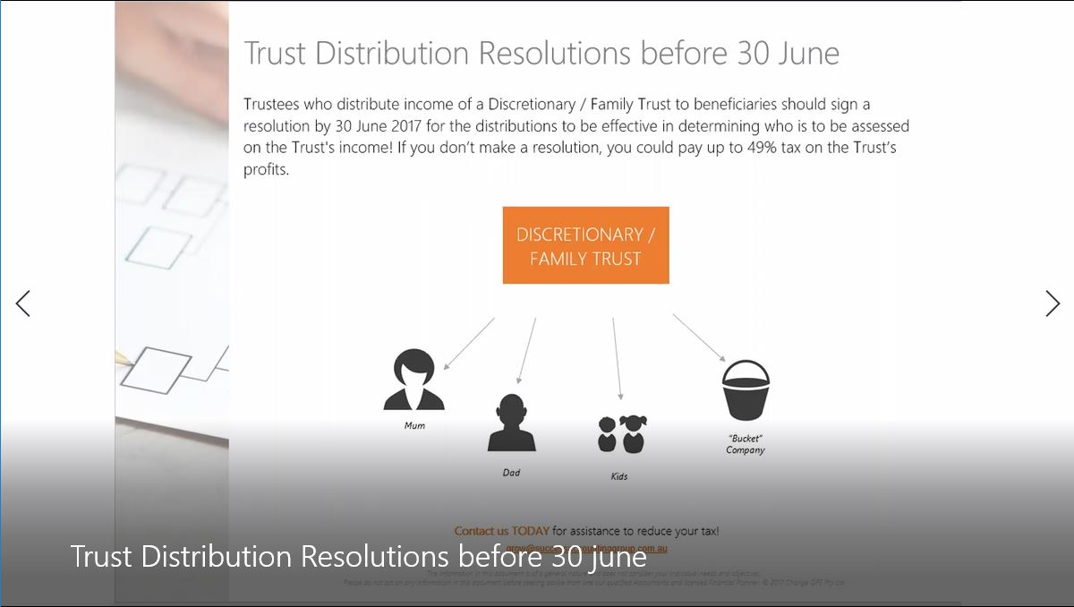 """""""How to make Trust Distribution Resolutions"""""""